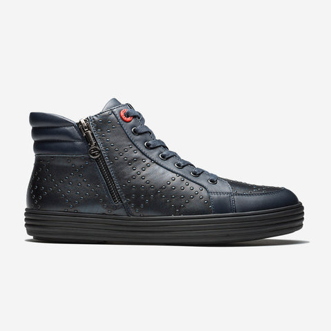 Zip High-Top Shoes Dark Blue - Top High-top Shoes - OPP Official Store (OPP France)