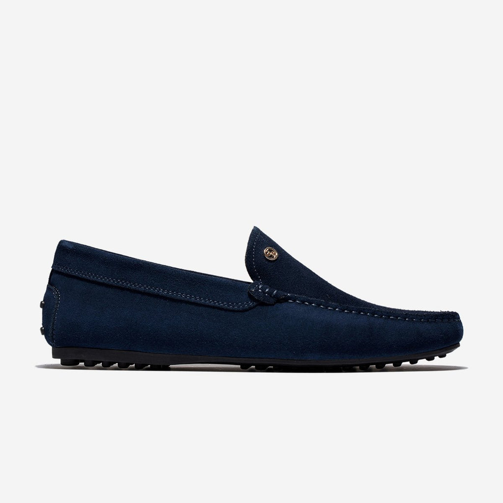 SUEDE LOAFERS SHOES BLUE - Top Loafers Shoes - OPP Official Store (OPP France)