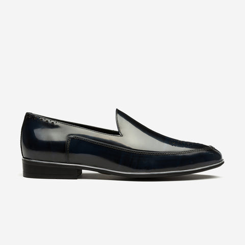 PATENT LEATHER DRESS SHOES DARK BLUE - Top Dress Shoes - OPP Official Store (OPP France)