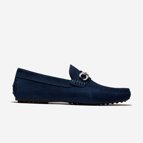 Metal Suede Brushed Shoes Blue - Top Loafers Shoes - OPP Official Store (OPP France)