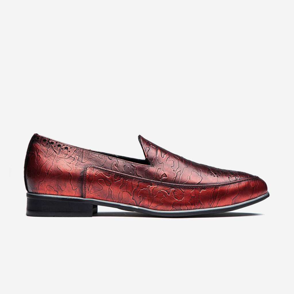 BUCKLE DRESS SHOES RED - Top Dress Shoes - OPP Official Store (OPP France)
