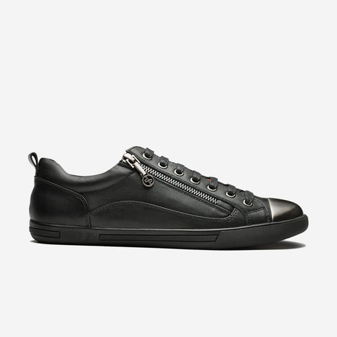 METAL ZIP SHOES BLACK - Top Casual Shoes - OPP Official Store (OPP France)
