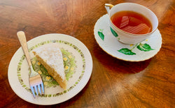 Vegan Lemon Yerba Mate Cake with Tea