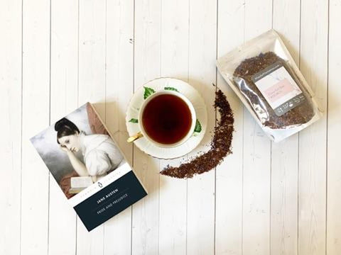 Pride and Prejudice paired with Classy Earl Grey Rooibos