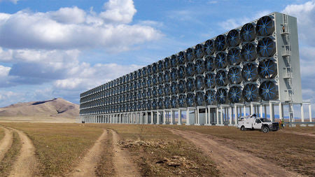 Direct Air Capture Fans in Texas - Image Sourced From Vox
