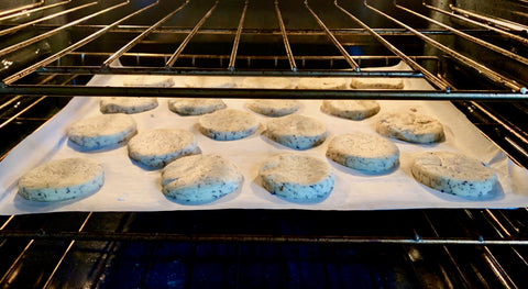 Earl Grey Shortbread in the oven