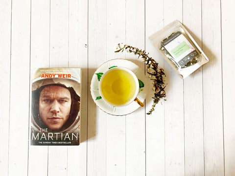 Martian paired with Glorious Genmaicha Green Tea