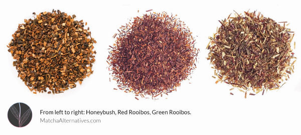 Honeybush Red and Green Rooibos Matcha Alternatives