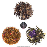 Dusky Mango Green Tea, Ginger Chai Yerba Mate, and Smell the Roses Cherry Rooibos for mocktails