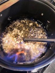 Moringa Sauce Step 2 Flambe Brandy