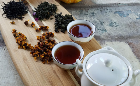 Pure tea and herbal blends