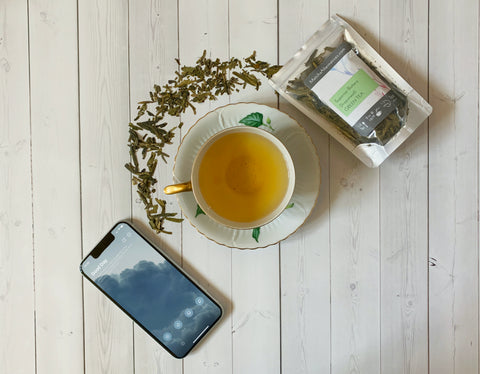 Superior Buttery Dragonwell loose leaf green tea and Tide meditation app for increased focus