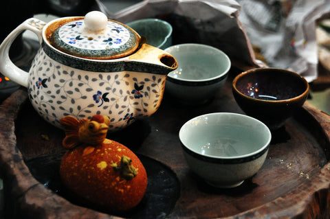 Teapot and Cups