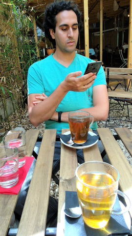 Vientiene Drinking Tea in Sofia Bulgaria - Matcha Alternatives