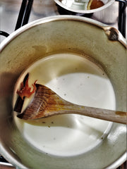 Yerba Mate Latte - Heating Milk - Matcha Alternatives.jpg