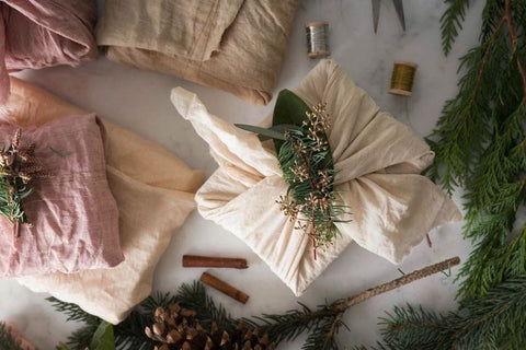 Fabric Wrapped Gifts