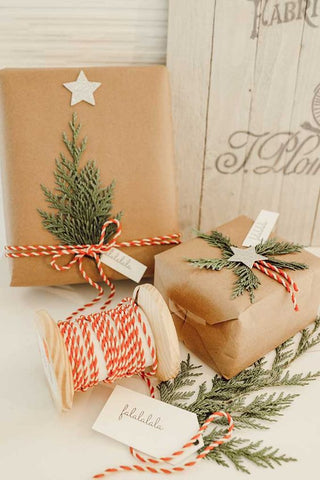 Gift wrap with Christmas tree