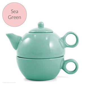 Cheerful Tea for One Teapot - Sea Green