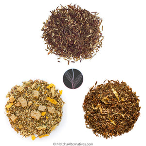 Green Rooibos Trio (3 Fresh Rooibos Teas Bundle) - Matcha Alternatives