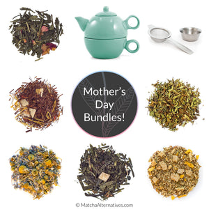 Perfect Mother's Day Tea Gift Set (Tea Sampler + either Infuser or Teapot with Strainer)