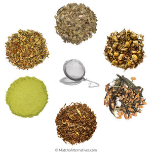 Premium Discovery (Six Uncommon Teas + Tea Ball Bundle) - Matcha Alternatives
