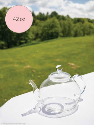 Quintessential Glass Teapot 42 oz - Matcha Alternatives