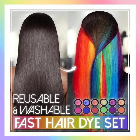 Reusable & Washable Fast Hair Dye Set (6 colors)