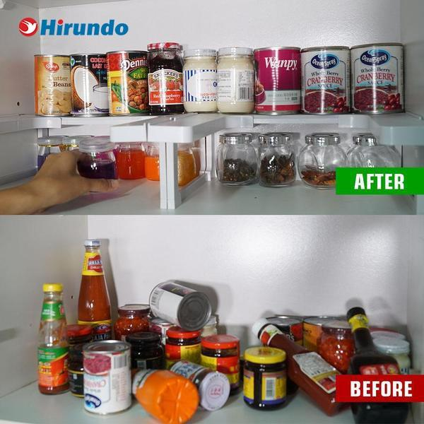 Hirundo Expandable Spice Rack and Cabinet Organizer
