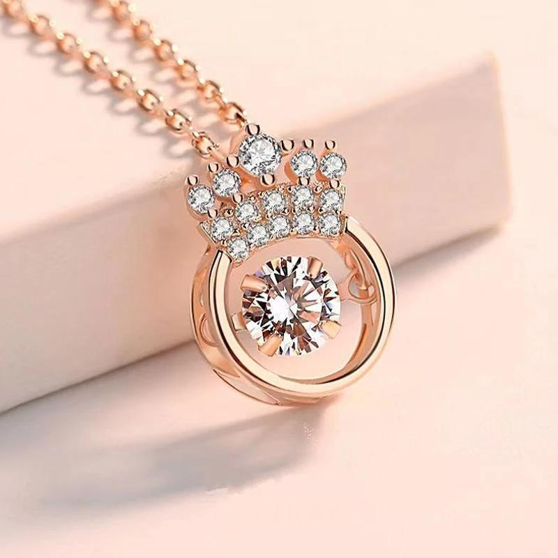 Crown Sparkling Dance Necklace