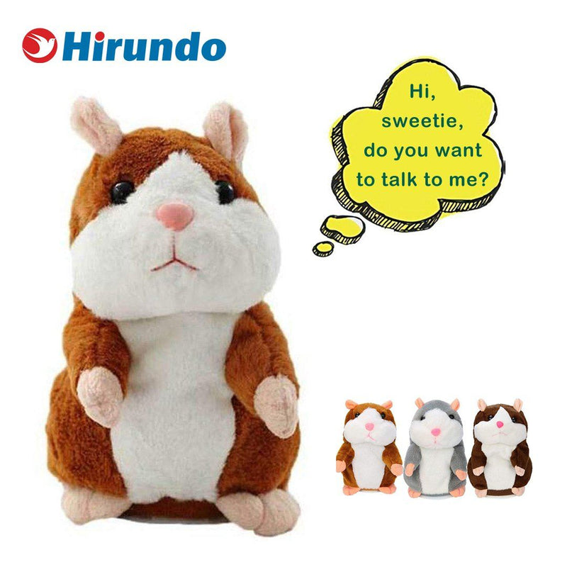 Cute Repeating Talking Hamster Plush Toy