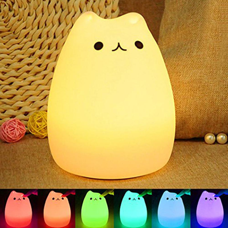 Kitty Tap Lamp - Color Changing LED Night Light
