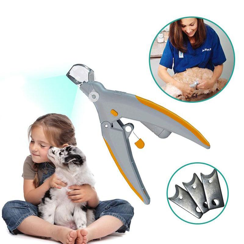 Hirundo Illuminated Nail Clipper - The Safe, Easy Way to Trim Your Pet's Nails!