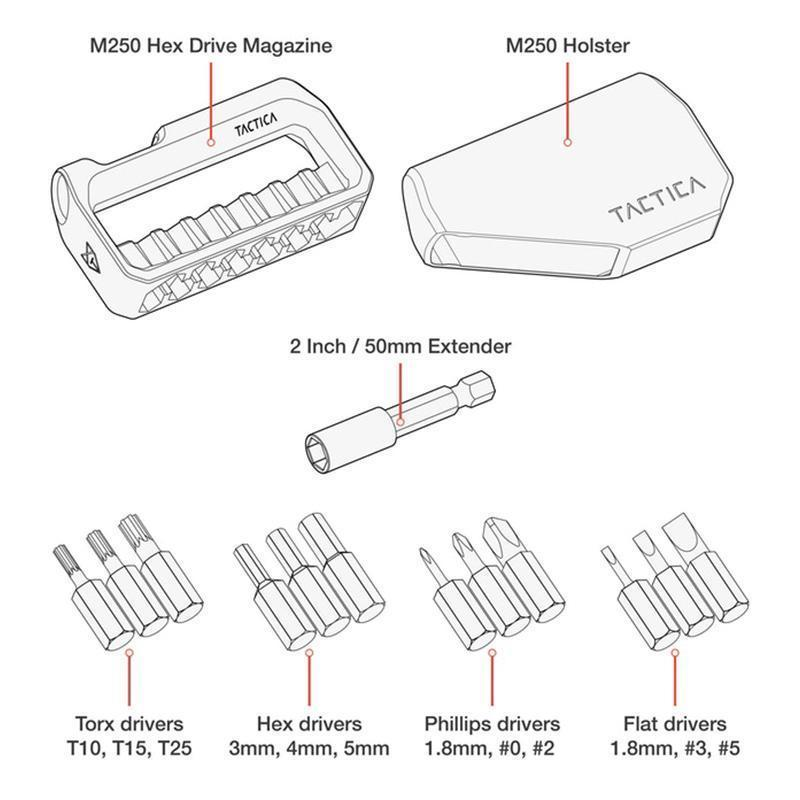 Hilifebox™ M250 Hex Drive Toolkit