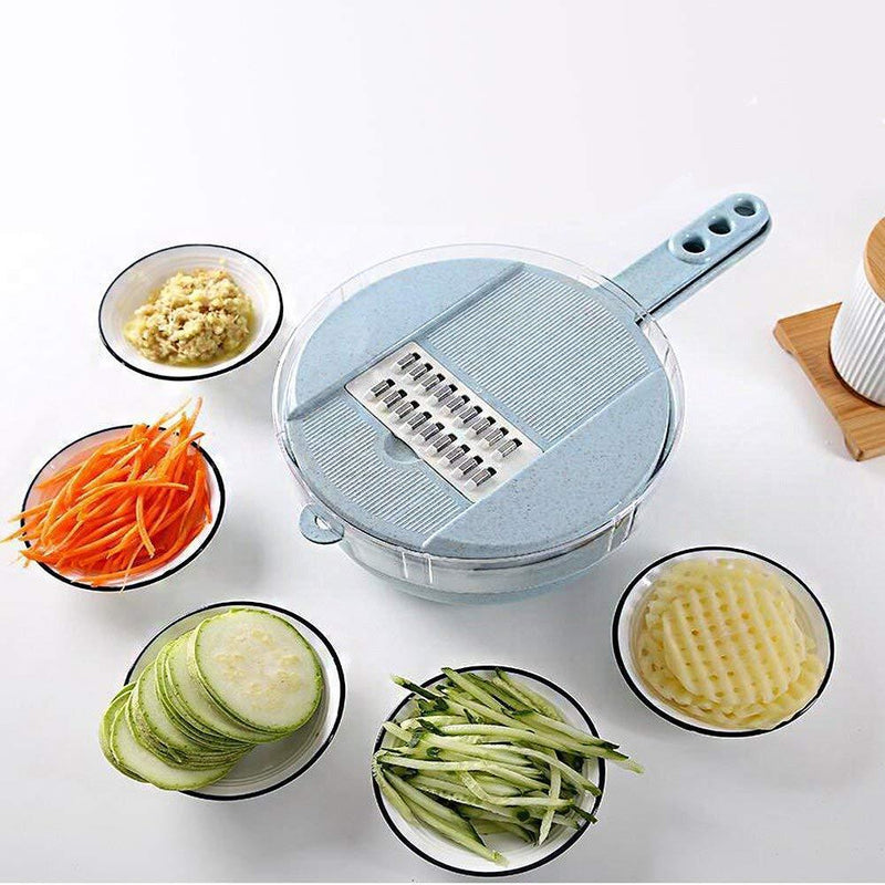 Four Blades Vegetable Slicer, Blue