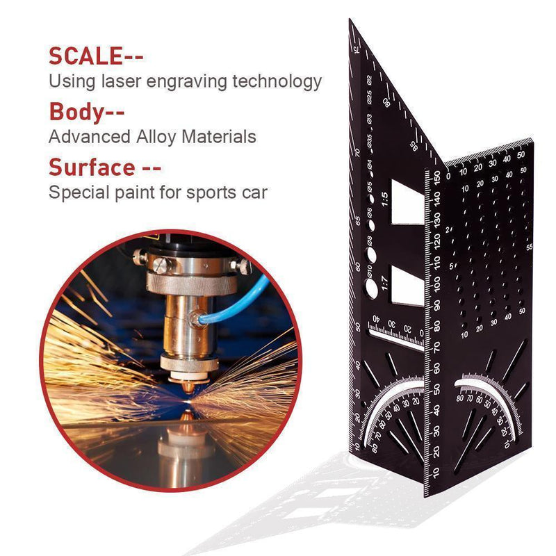 Hilifebox™ 90 Degree Alloy Material Carpenter's Tool