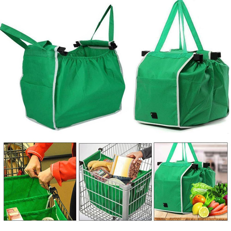 Grab Bag Reusable Clip-to-Cart Shopping Bags