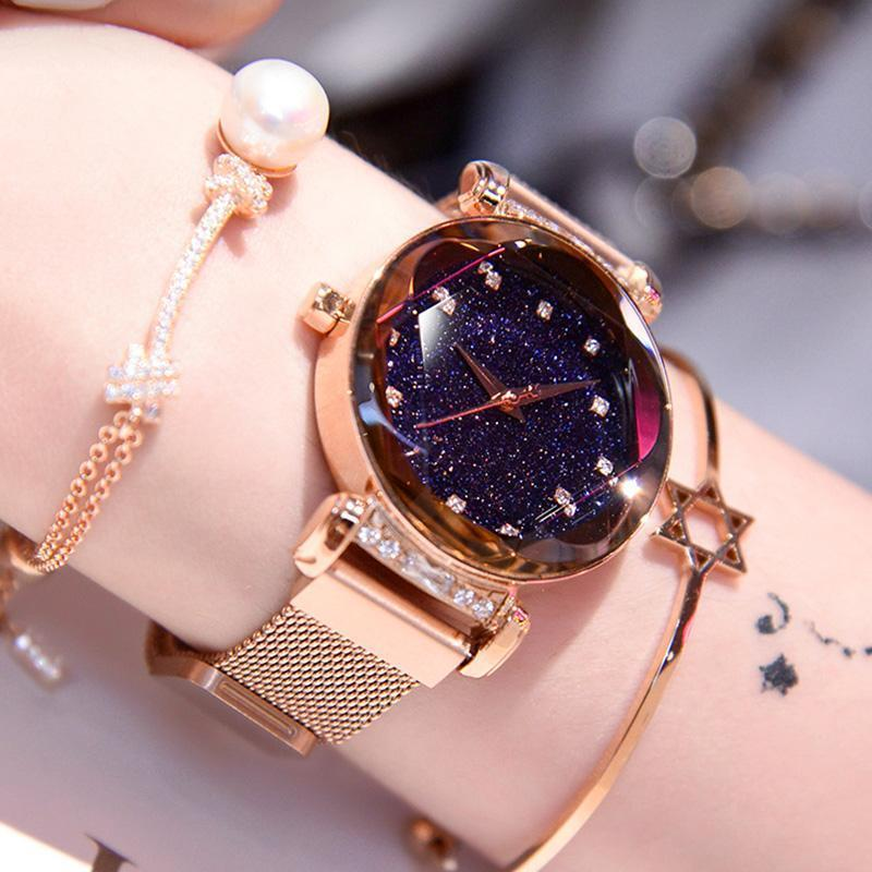 2019 New Fashion Star Watch With Unique Magnet Lock