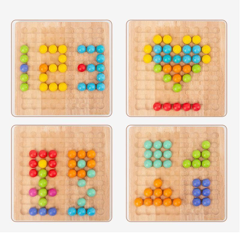 Wooden Clip Beads Educational Toys