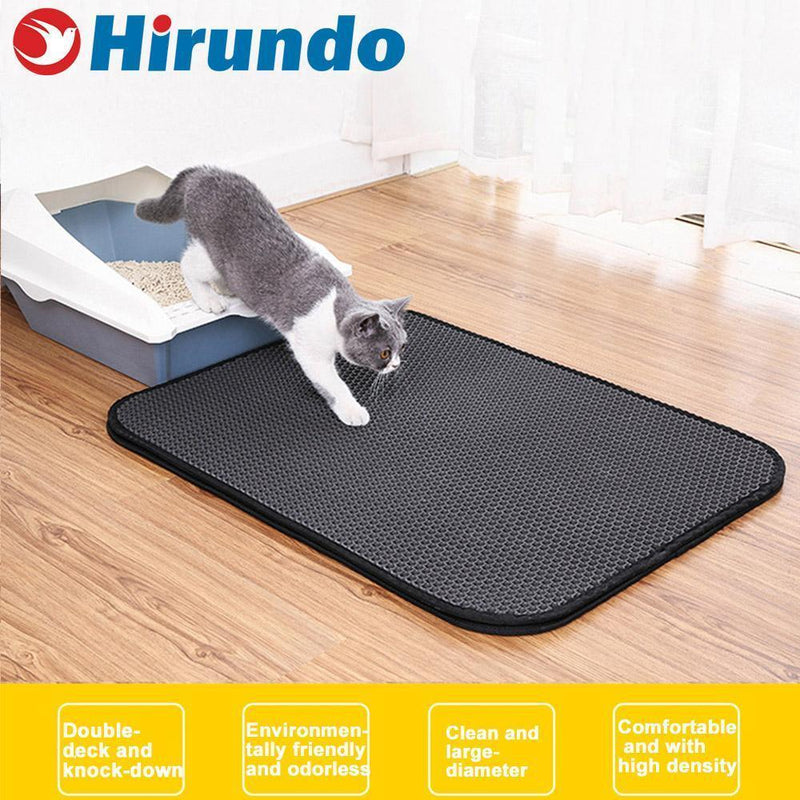 Hirundo Double Layer Nonslip EVA Waterproof Cat Litter Mat
