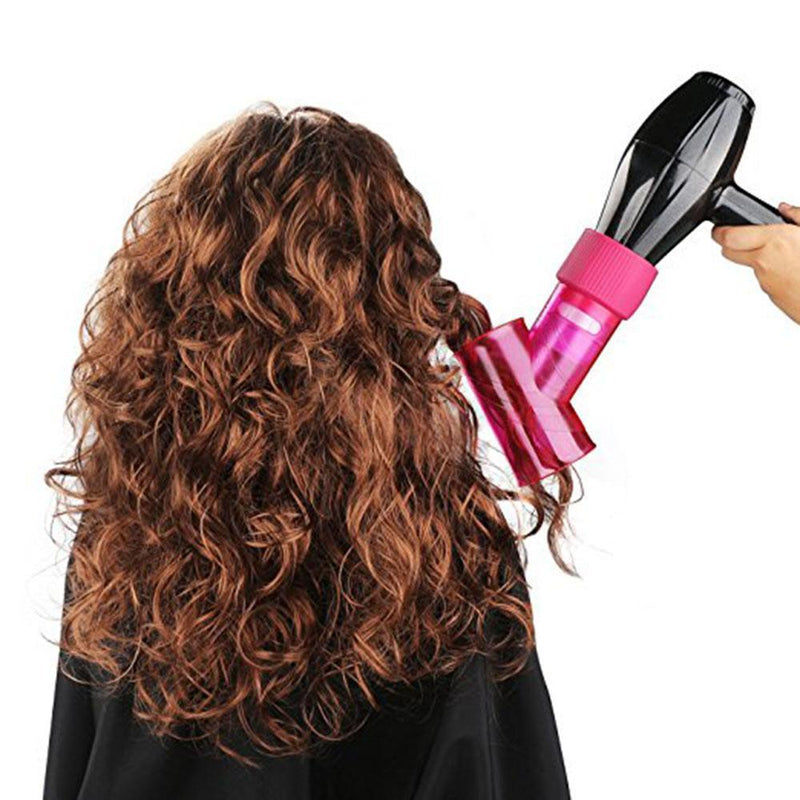 Hair Dryer Diffuser for Curly Wavy Permed Hair (Rose)