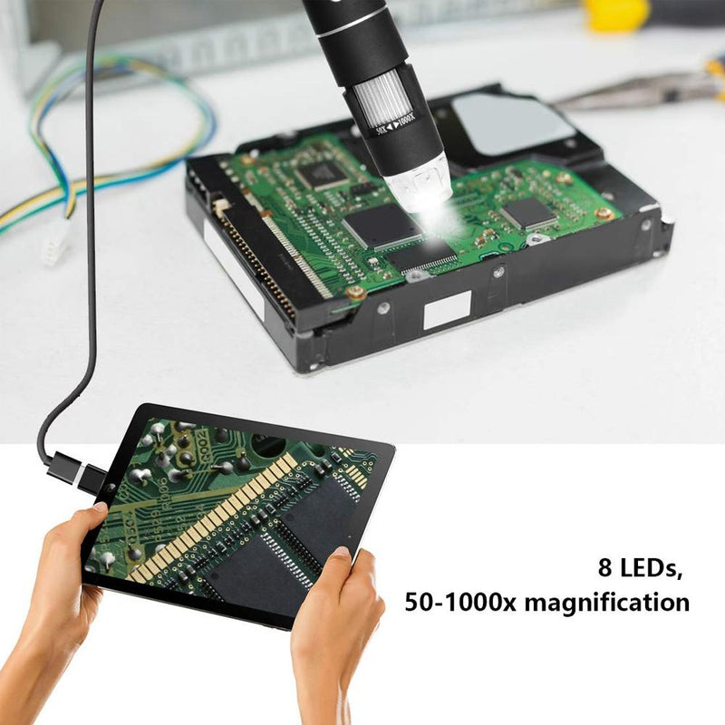 Domom® USB Digital Microscope LED PC-Connectable Digital