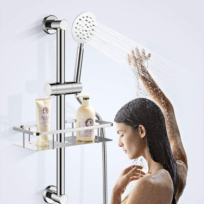 Adjustable Shower Head Holder For Slide Bar