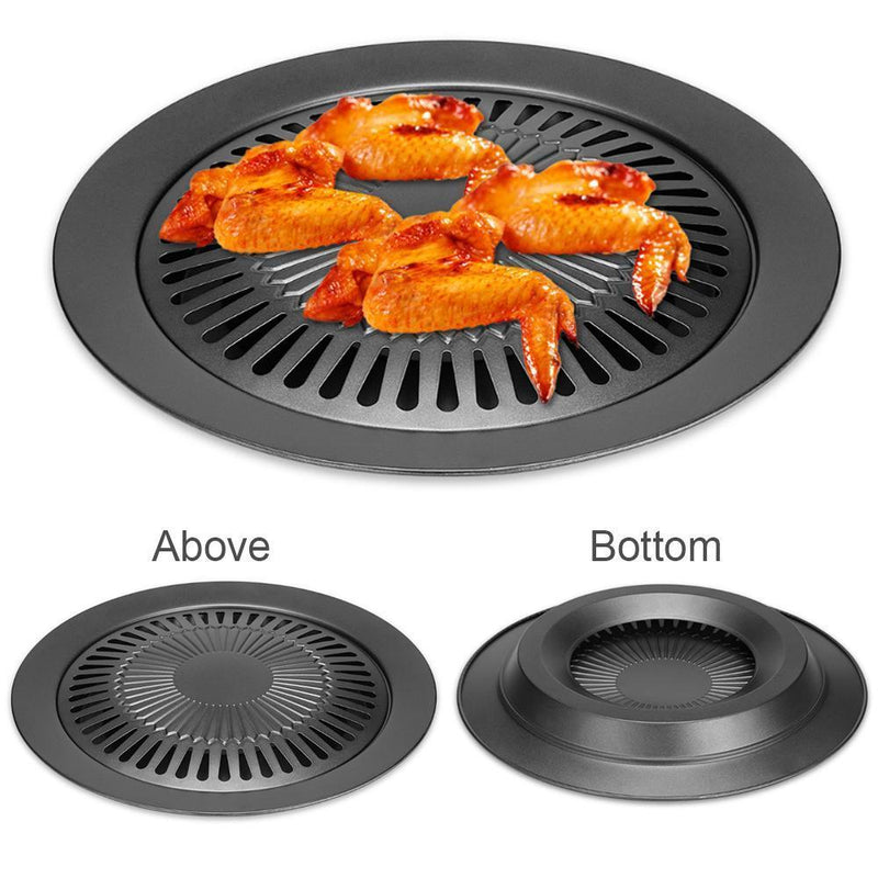 Kitchen + Home Stove Top Smokeless Grill Indoor BBQ,Black