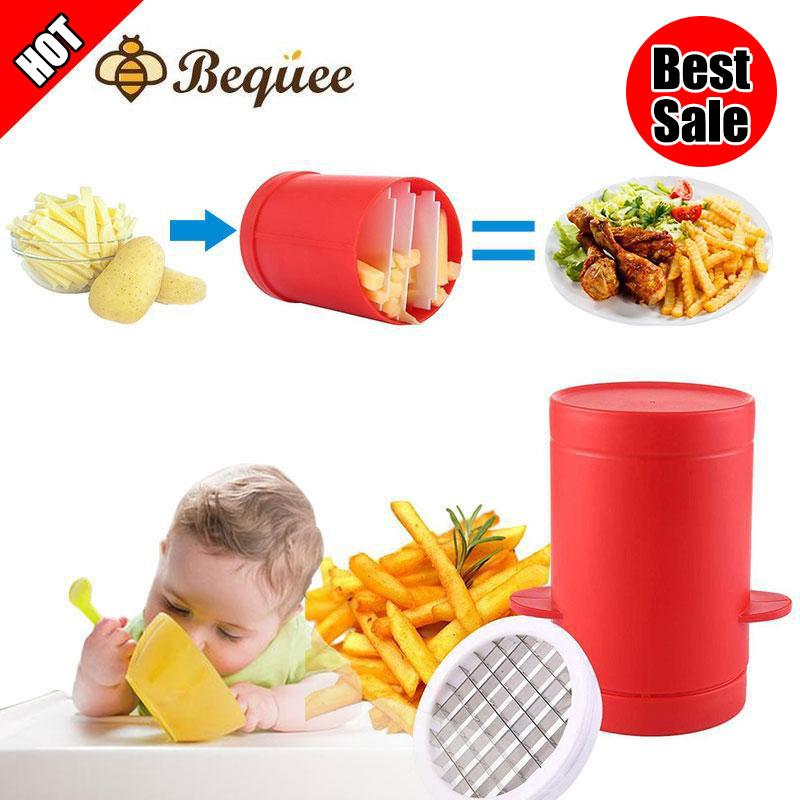 Bequee Potatoes Maker(Red)- Potato Chips Cutter Machine