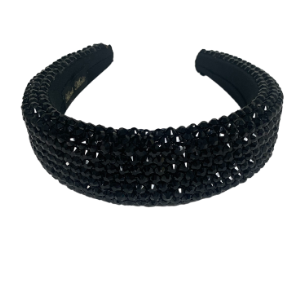 BLACK RHINESTONE HEADBAND