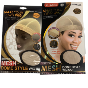 BEIGE/ NATURAL COLOR STRETCH MESH DOME STYLE WIG CAP