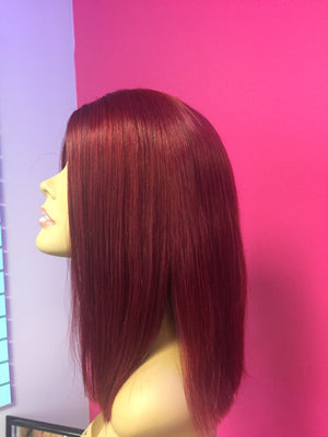 BURGUNDY BEAUTY CLOSURE WIG