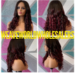 RED VIOLET CLOSURE WIG
