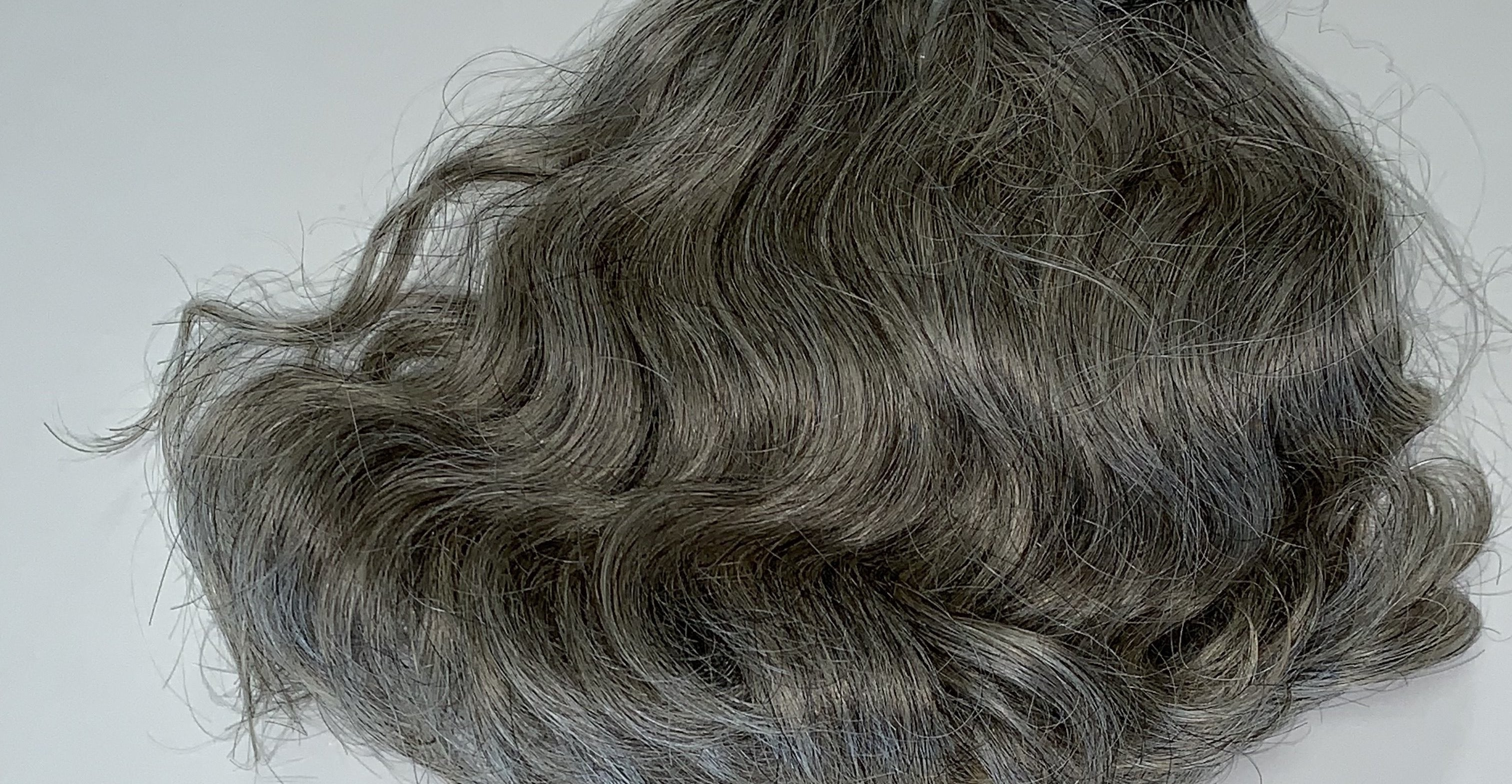 Grey Blonde Wavy Virgin Hair