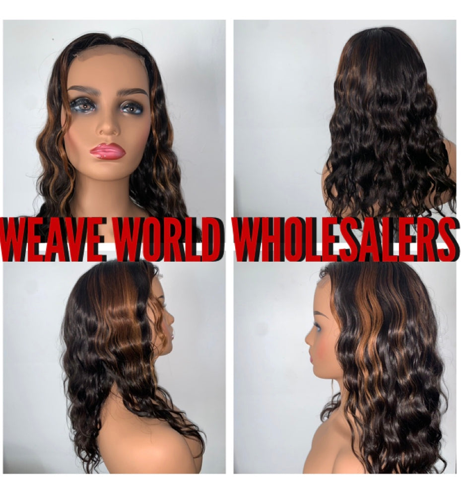Summer Vibes Highlighted Closure Wig